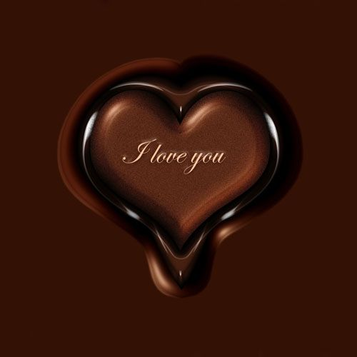 chocolate-love-heart | Chocolate Love | Pinterest