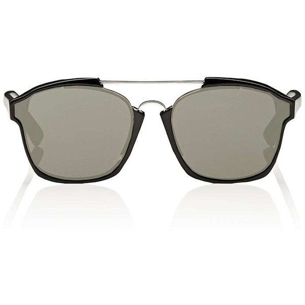 """Dior Women's \""""Dior Abstract\"""" Sunglasses (1.640 BRL) ❤ liked on Polyvore featuring accessories, eyewear, sunglasses, no color, mirror lens aviator sunglasses, mirrored lens sunglasses, aviator sunglasses, christian dior eyewear and aviator style sunglasses"""