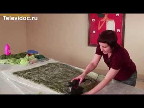 Валяная юбка Мастер-класс ч 1 Алена Арт - YouTube