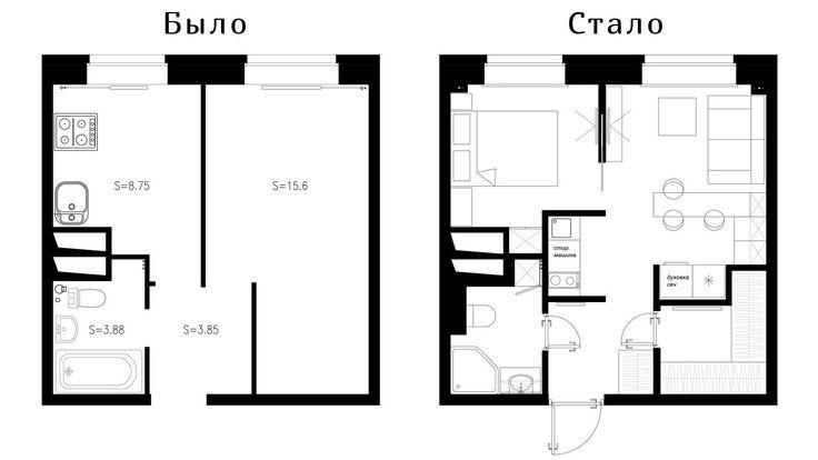 Отличный интерьер маленькой квартиры в Питере