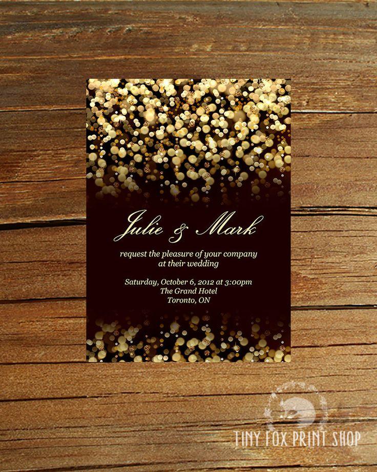 PRINTABLE Gold Glitter Gatsby Wedding By TinyFoxPrintShop On Etsy