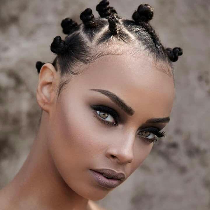Editor's #Style Picks - Bantu knots on short hair. #ZenMagazine | http://zenmagazineafrica.com/