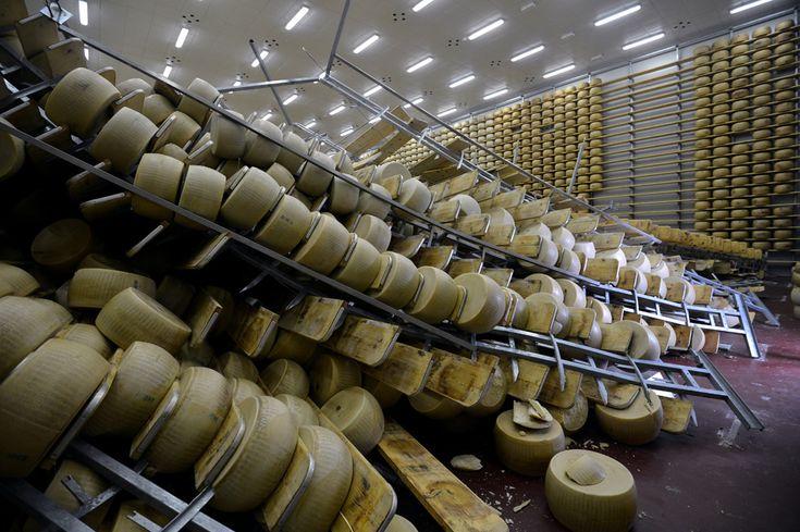 21.05.2012 Gli effetti del terremoto su una fabbrica di parmigiano  GUARDA TUTTE LE FOTO      (GIUSEPPE CACACE/AFP/GettyImages)