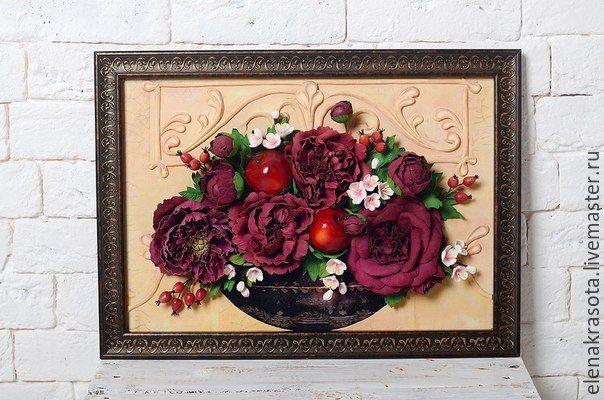 Купить Картина из фоамиран мастер-класс - разноцветный, фоамиран, фоам, фоам эва, фоамиран иранский