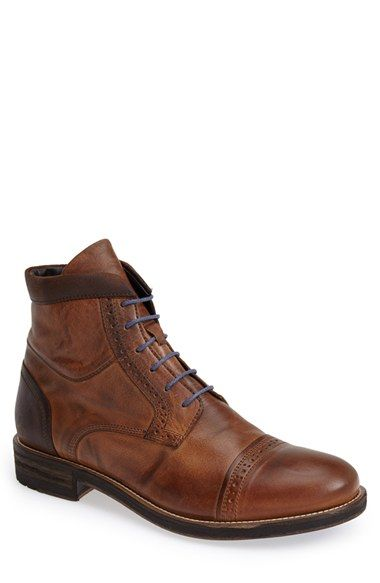 Bacco Bucci 'Lorenzi' Cap Toe Boot (Men) available at #Nordstrom