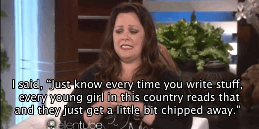 And then she asked if he had a daughter, to make him understand the true ramifications of his words: | Melissa McCarthy Shuts Down Sexist Reporter Who Criticized Her Appearance