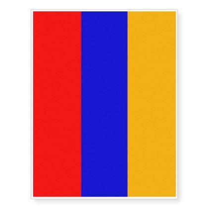 Patriotic temporary tattoos  Flag of Armenia - elegant gifts gift ideas custom presents