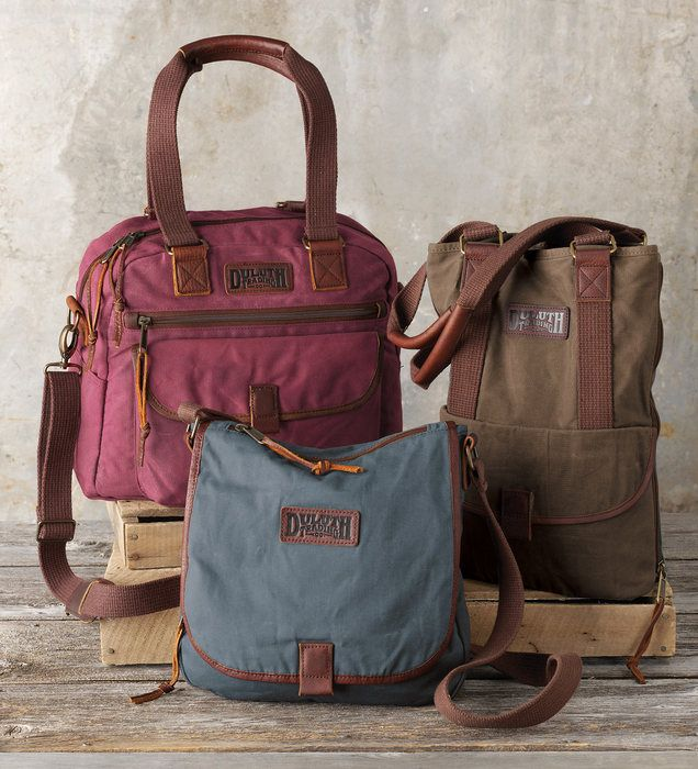 No babyin' these bags! Stain- and water-shedding oil cloth totes are in it for the long haul. Great for women on the go, in travel tote, tote bag and sling bag styles. A great gift for Mother's Day. Only at Duluth Trading.