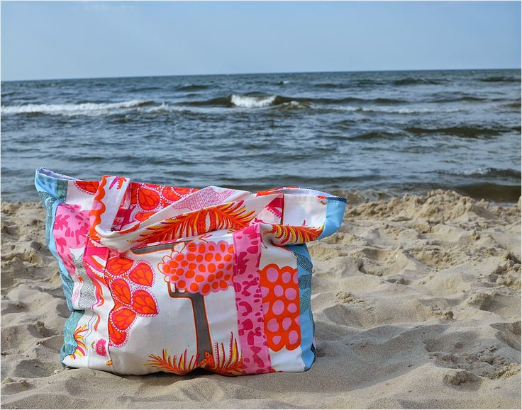 Ikea fabric handmade beach bag