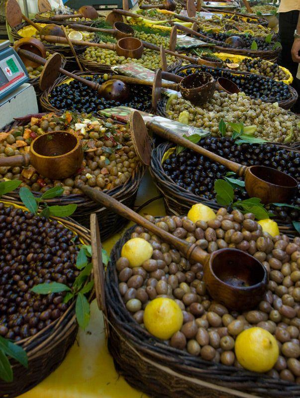 olives of all kinds.....Market in St. Remy de Provence, France.