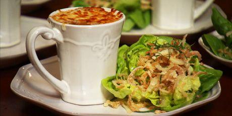 French Onion Soup and Salad with Vidalia Vinaigrette Recipes | Food Network Canada