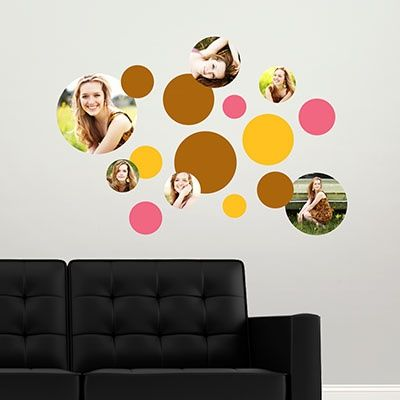 Create your own custom wall decals using your favorite photos! Perfect for graduation party decorations, kids' rooms or dorm rooms #peartreegreetings ...
