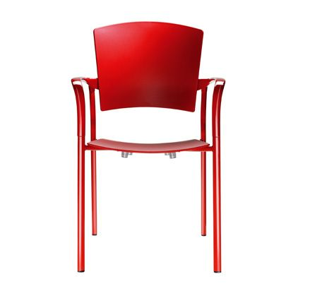 Think of comfort as being the absence of awareness. Eina stacking chair and armchair wins the 'sit test' time and time again and has been tested to AFDRI Level 5 contract use rating. http://www.zenithinteriors.com.au/product/583/eina-armchair