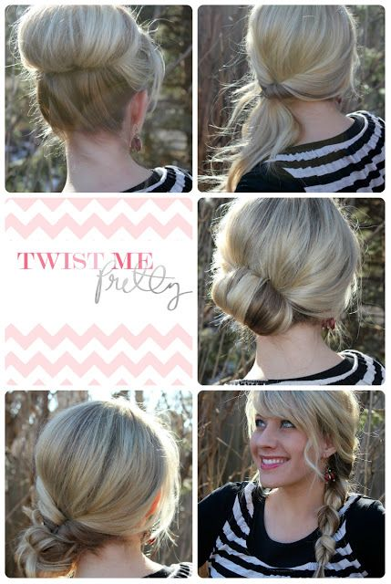 Twist Me Pretty: Topsy Tail Revisited- Messy Bun http://www.twistmepretty.com/2012/03/topsy-tail-revisited-messy-bun.html