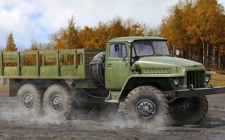 рисунок Урал-375Д