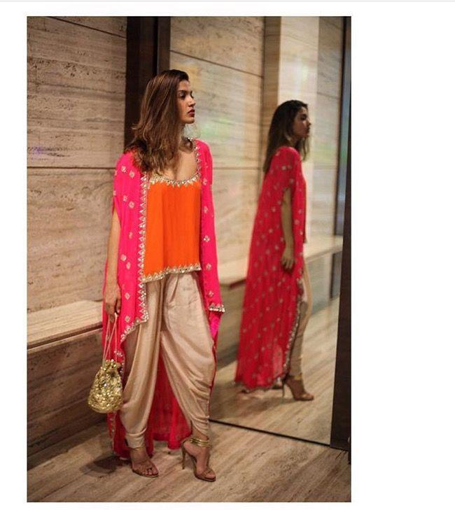 Arpita Mehta # dhoti pants # cape look # fusion wear # weddings #