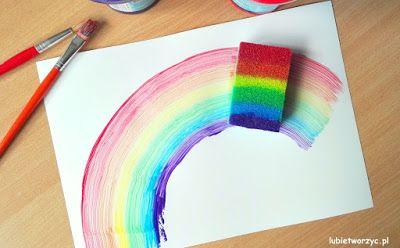 Kolorowa tęcza wykonana jednym ruchem ręki! Niemożliwe? A jednak! Przekonajcie się sami! :D  #tęcza #gąbka #gąbkadonaczyń #malować #malowanie #farby #przedszkole #rainbow #sponge #paint #paints #painting #preschool #preschoolactivity #preschooactivities #kindergarten #nurseryschool #craft #crafts #kidscrafts #diy #zróbtosam #handmade #tutorial #poradnik #jakzrobić #krokpokroku #sposóbwykonania #instrukcja #instruction #instrukctions #wiosna #spring
