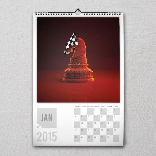 January 2015 #PremiumChessArtCalender #PremiumChess #chess #art #calender #kalender #LikeableDesign #illustration #3Dartwork #3Ddesign #chesspieces #chessart