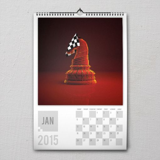 January 2015 #PremiumChessArtCalender #PremiumChess #chess #art #calender #kalender #LikeableDesign #illustration #3Dartwork #3Ddesign #chesspieces #chessart