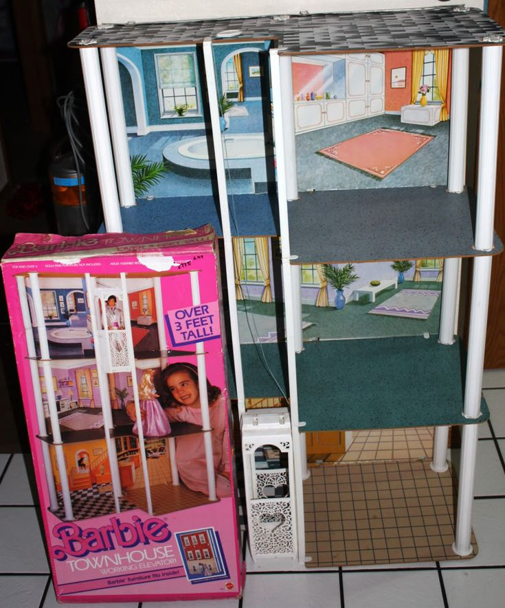 80s barbie townhouse house 3 feet tall elevator box wow Elevator townhomes