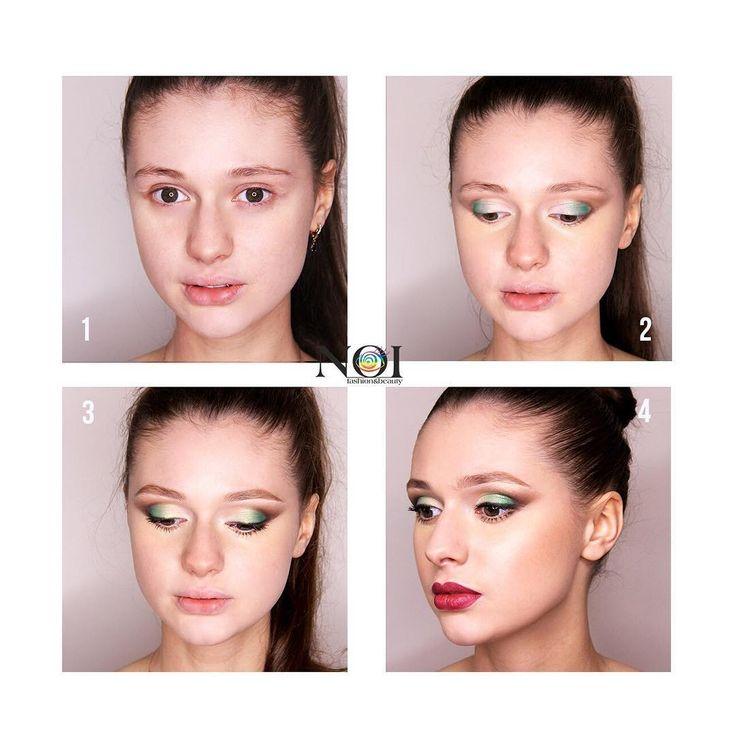 Летний яркий макияж? Легко!  С продуктами FACE nicobaggio professional make-up: 1. Подготовьте лицо к макияжу при помощи базы LIFT ACTIVE и нанесите тон ISODERMIC COLOR GEL 80 и минеральную пудру TOP MINERAL POWDER.  2. Во внутренний уголок глаза нанесите компактные тени COMPACT SHADOW №16, на внешний угол - №42, а после №14. 3. Скорректируйте брови при помощи компактных теней COMPACT SHADOW №17, придайте им форму при помощи фиксатора EYEBROWS FIXER и нанесите тушь М4 EXTRA VOLUMATIC…
