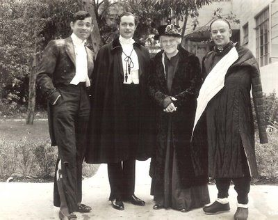 Greenbriar Picture Shows Clark with Robert Montgomery, Lionel Barrymore and Paul Muni 1936