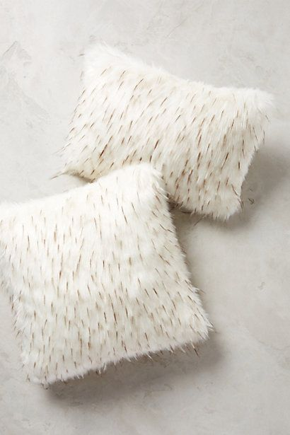 faux-fur pillow #uptownchic #anthrofave