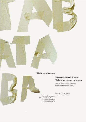 Nevers' Festival/Posters A2 2008 Serie of posters for the Nevers' Festival of music, movie and theater: Mauricio Kagel, Bernard-Marie Koltes and Andrejz Wajda.