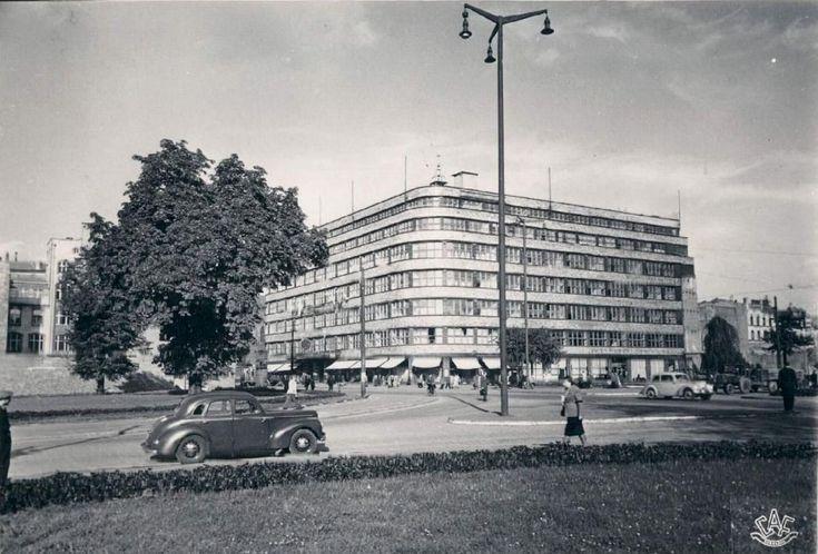 Plac Kościuszki jeszcze bez zabudowy KDM (Kościuszkowskiej Dzielnicy Mieszkaniowej)Lata 1953-1954