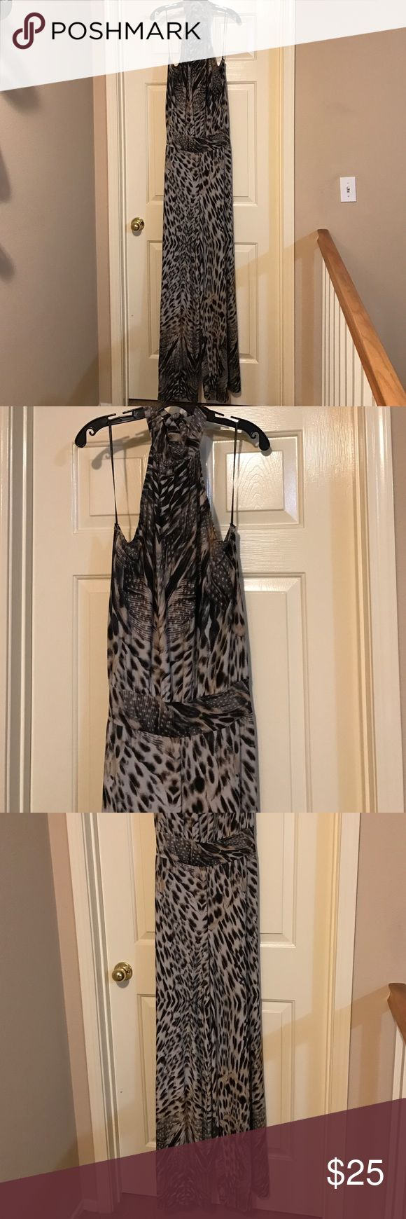 Animal Print Jumpsuit Backless Wide Leg Jumpsuit, Ties around the neck, wide Band around the waist very sexy. Nice thick cotton fabric. Pants Jumpsuits & Rompers