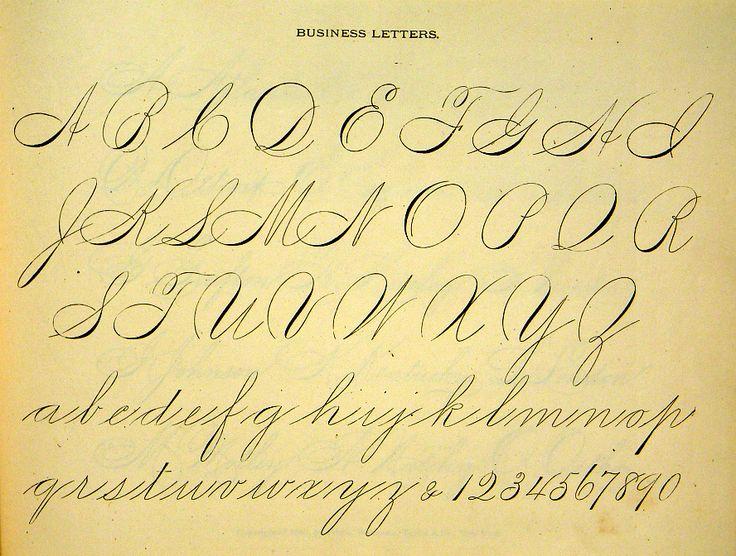 Victorian writing alphabets