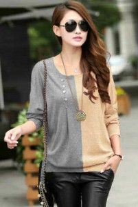 Jesslyn Black Combie Grey Bahan: Kaos Spandek Size: Fit L, Lebar dada/panjang: 45/65cm Kode Produk: T4909 Harga: Rp. 48.000