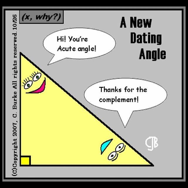Mathpics Mathjoke Mathmeme Funny Math Pics Haha Joke Meme Pun Dating Angle  Acute Complement Compliment Triangle
