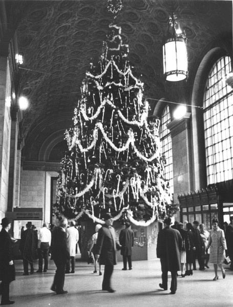 Higbee's 50-foot Christmas tree in Terminal Tower lobby