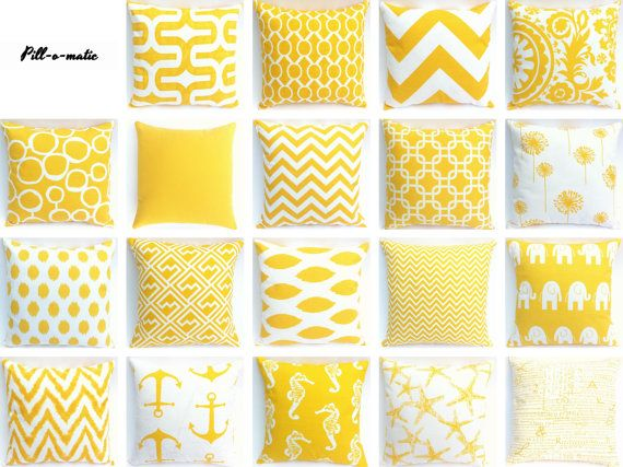 yellow decorative throw pillow covers choose from 19 by pillomatic
