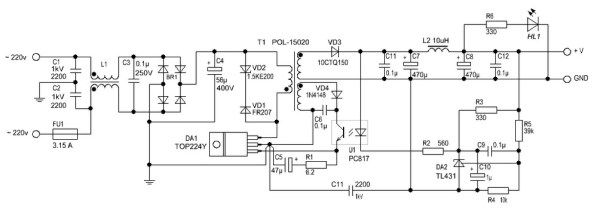 Switching Power Supply 12 V 2 A Switched Mode Power Supply Power Supply Power Supply Circuit