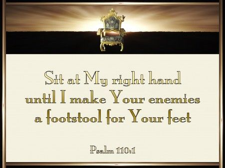 Psalm 110-1 Sit At My Right Hand cream -