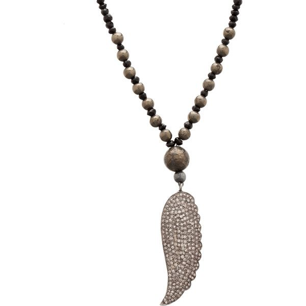 Renee Sheppard Long Wing Pave Diamond Necklace in BlackLong Wings, Clothing Shops, Rene Sheppard, Pretty Feathers, Jewelery Inspiration, Pave Diamonds, Fashion Passion Beautiful, Diamond Necklaces, Diamonds Necklaces