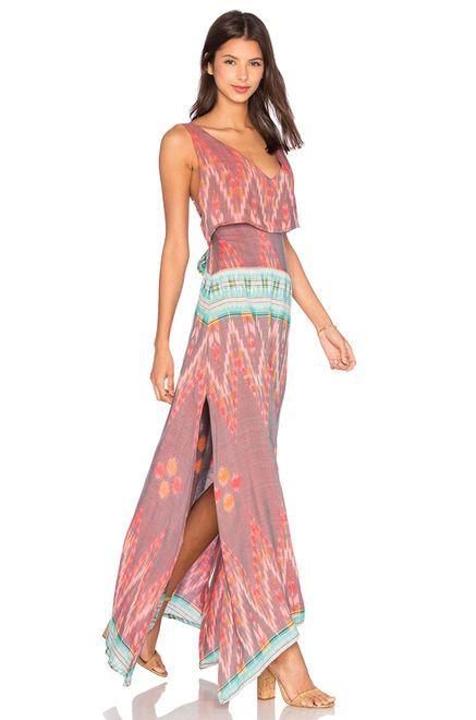 Cleobella Azara Dress в цвете Специя Принт Икат   REVOLVE
