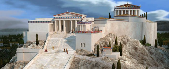 Excellent site on the Temple of Athene Nike on the ...