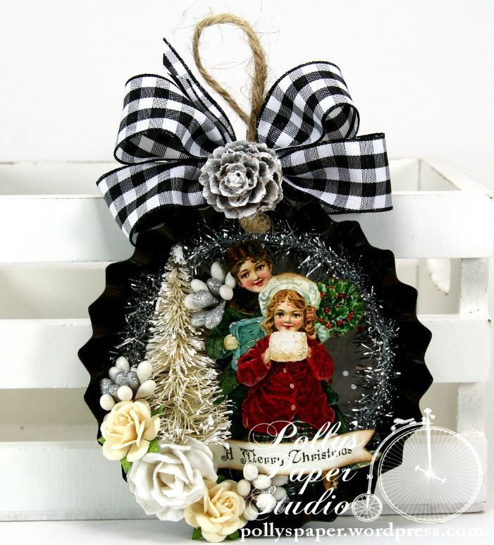 110 best images about christmas altered tins on pinterest for Decorating tins for christmas