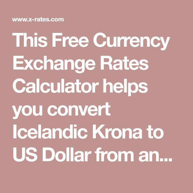 This Free Currency Exchange Rates Calculator helps you convert