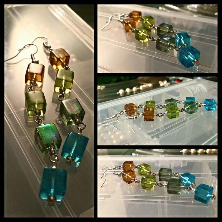 Festive statement earrings by Glaetzer Jewellery Kreations  https://m.facebook.com/GlaetzerJewelleryKreations/