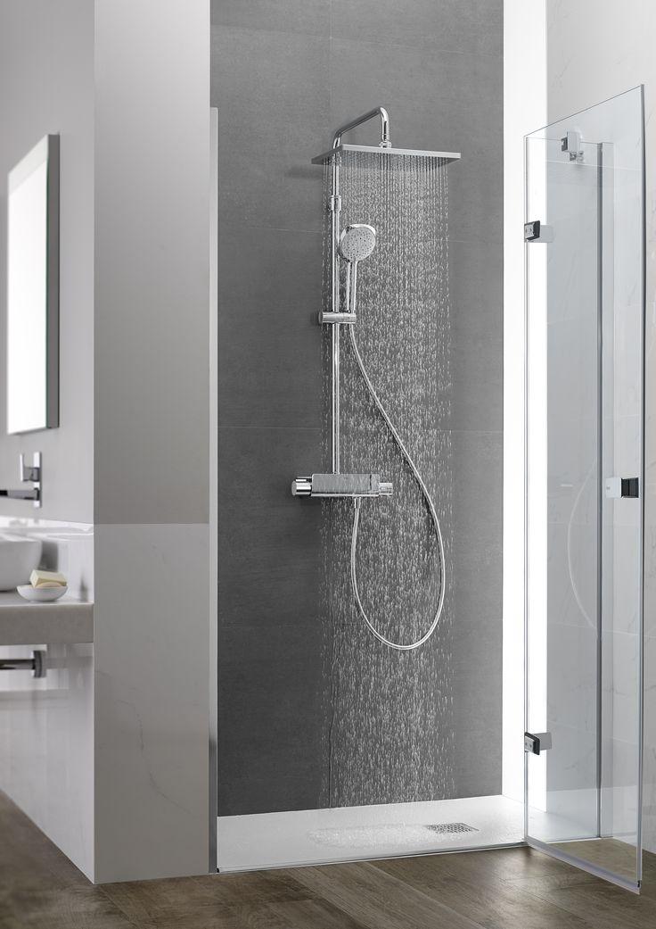 New 2016 colonne de douche deck t de roca version square avec tête pivotante