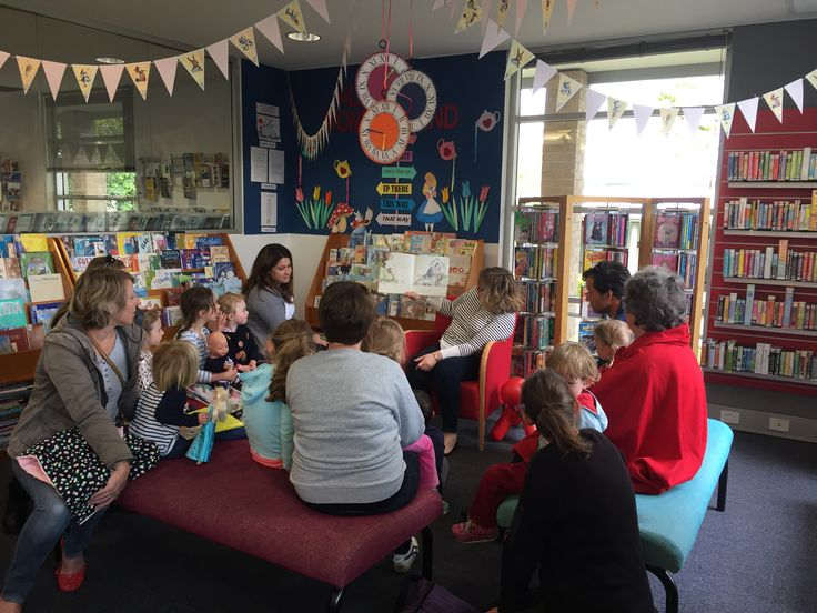 Celebrating Grandparent's Day with stories and craft at Bowral library.