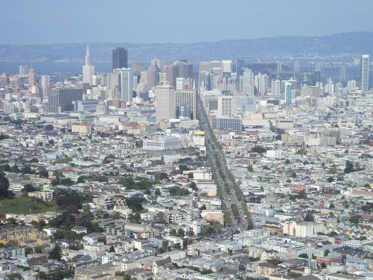 Twin Peaks down to San Francisco
