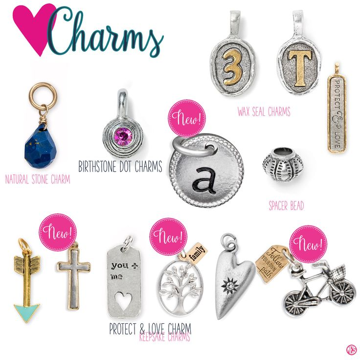 Charms by Thirty-One. Fall/Winter 2016. Click to order. Join my VIP Facebook Page at https://www.facebook.com/groups/1603655576518592/