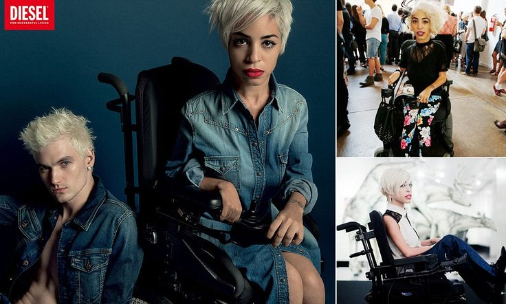 Diesel has featured Jillian Mercado, who is affected by Muscular Dystrophy, in its new campaign. Read about her selection to participate in the campaign and her words to others with disabilities.   Inclusion in advertising has taken some big strides!