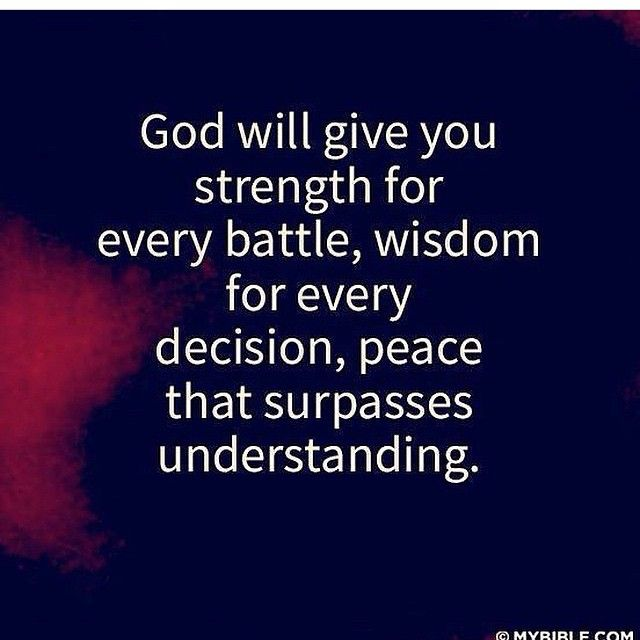 God will give ypu strength :)
