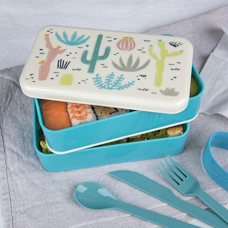 Fiambrera de dos pisos perfecta para mantener la comida de tu peque bien conservada en el día a día y en excursiones o picnics - Minimoi